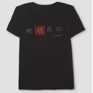 New With Tags Word Scrabble T-shirt Men's XL